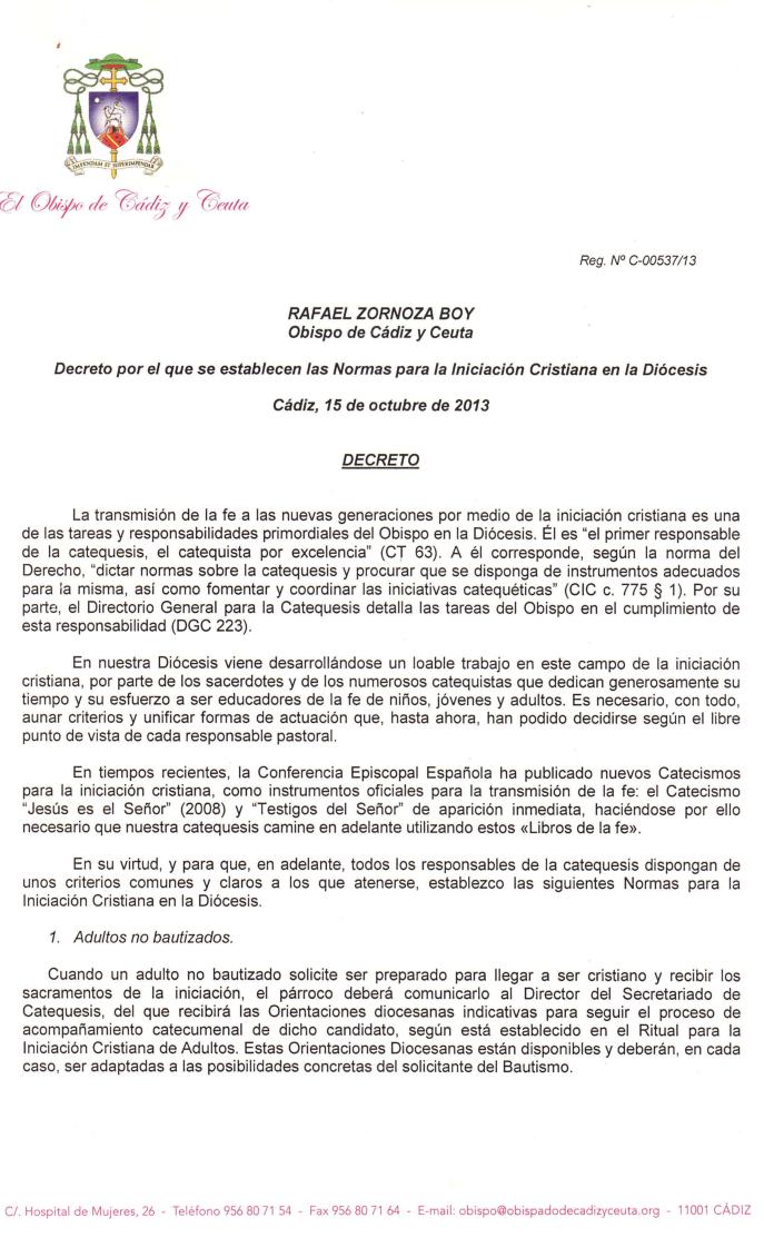 DECRETO NORMAS DIOCESANAS INICIACION CRISTIANA (1)