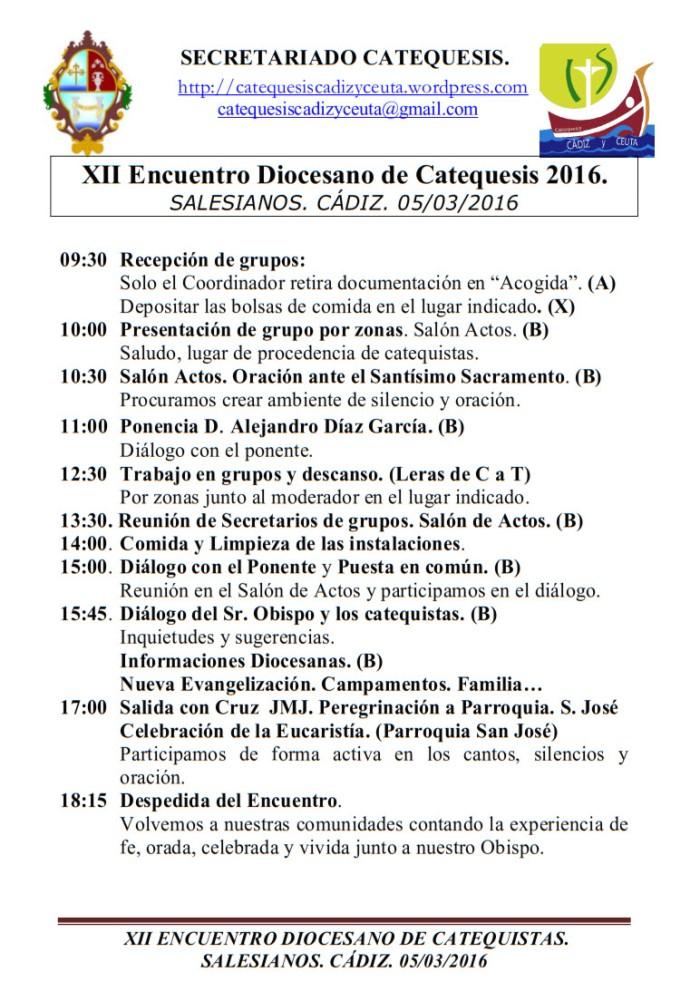 horario encuentro 05-03-2016